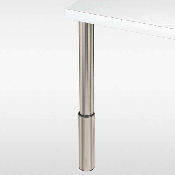 pied de table reglable en inox