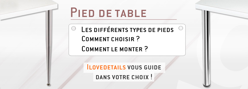 slider pied de table